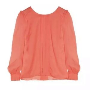 J.Crew silk pleated blouse Sz 00